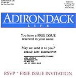 image of Adirondack Life direct mail sales letter envelope