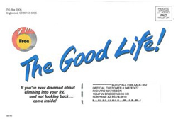 image of The Good Life direct mail envelope