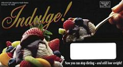 image of Indulge direct mail envelope