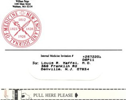 image of New England Journal of Medicine direct mail envelope