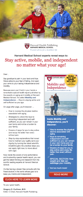 Harvard Health Mobility