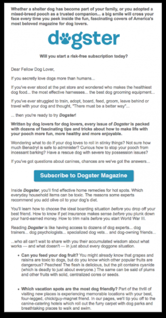 Dogster Email